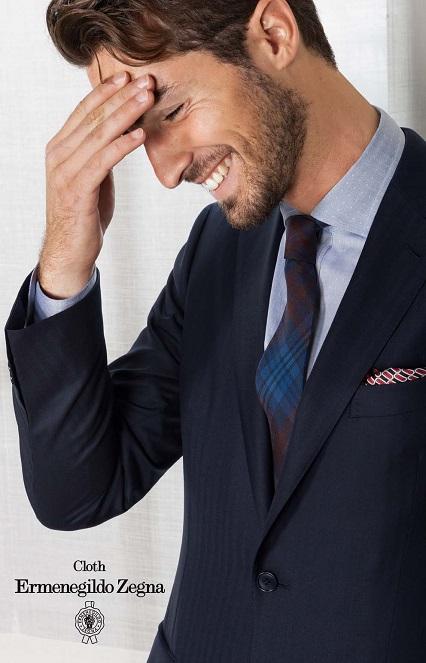 Zegna Classic Mens Blue Suit