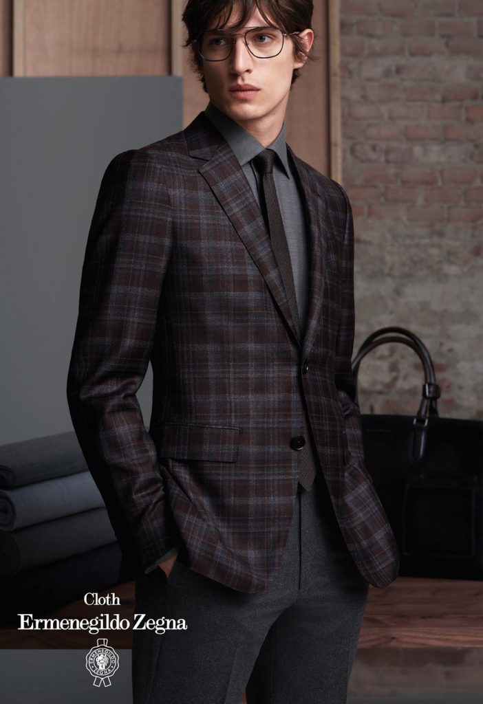 Zegna-Mens-Sport-Jacket-Check Pattern-Cashmere-Wool-FW2020
